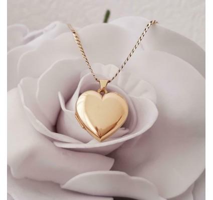 Hanger ~ Gouden 14 karaats hartvormige Medaillon hanger