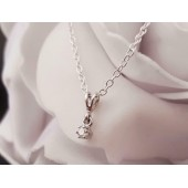 Hanger ~ LOVELY Witgouden 14 karaats hanger met Diamant