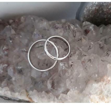Trouwringen ~ VITALE Witgouden 14 karaats gladde trouwringen 3.5mm breed