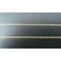 """Ketting ~ Gouden 14 karaats """"platte koffiebonen"""" ketting Beschikbaar tot en met de lengte 45cm"""