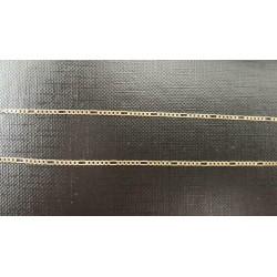 """Enkelband ~ Gouden 14 karaats """"Figaro"""" enkelband beschikbaar tot en met 30.5cm"""