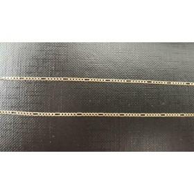 """Gouden 14 karaats """"Figaro"""" schakel armband beschikbaar tot en met 24cm"""