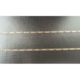 """Ketting ~ Gouden 14 karaats """"Figaro"""" schakel ketting beschikbaar tot en met 50cm"""