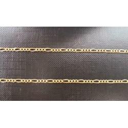 """Ketting ~ Gouden 18 karaats """"Figaro"""" schakel ketting beschikbaar tot en met 50cm"""