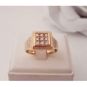 Ring ~ WAYNE Gouden 14 karaats Heren Ring Diamant