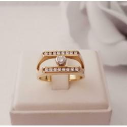 Ring ~ RENE Gouden 18 karaats Ring met Diamant