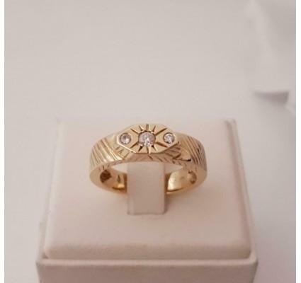 Ring ~ DANIEL Gouden 14 karaats Heren Ring met diamant