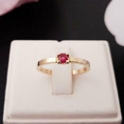 Ring ~ NORA Gouden 14 karaats Ring met Robijn