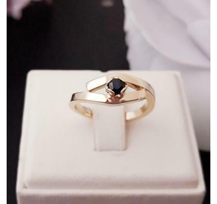 Ring ~ MADISON Gouden 14 karaats Ring met Saffier