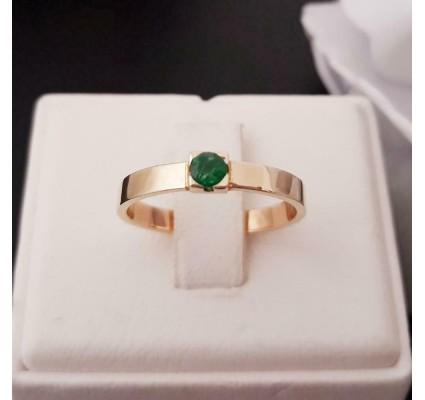 Ring ~ ILSE Gouden 14 karaats Ring met Smaragd