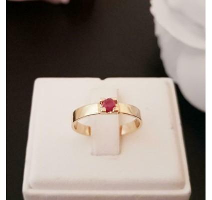 Ring ~ ROSA Gouden 14 karaats Ring met Robijn