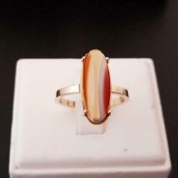 Ring ~ Gouden 14 karaats Ring met Agaat