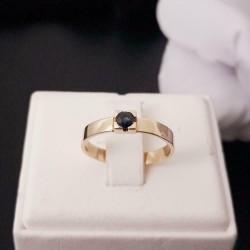 Ring ~ SADE Gouden 14 karaats Ring met Saffier