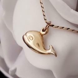 Hanger ~ Gouden 14 karaats walvis hanger