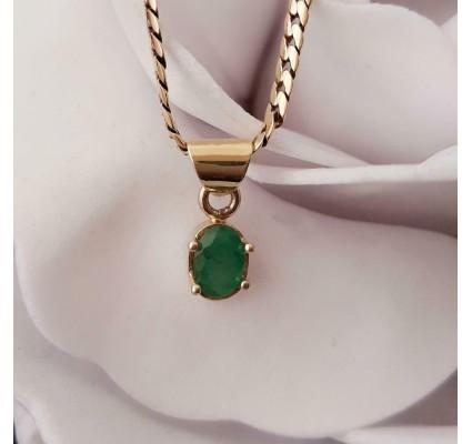 Hanger ~ ARABEL Gouden 14 karaats hanger met Smaragd