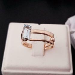 Ring ~ CATA Roodgouden 14 karaats Ring met Topaas