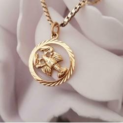 Hanger ~ KREEFT Gouden 14 karaats kreeft hanger sterrenbeeld
