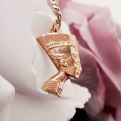 Hanger ~ Roodgouden 18 karaats Nefertiti hanger