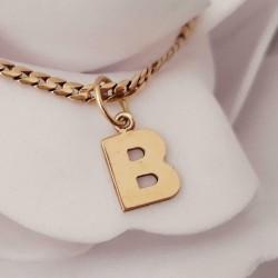 Hanger ~ Gouden 14 karaats letter B Hanger