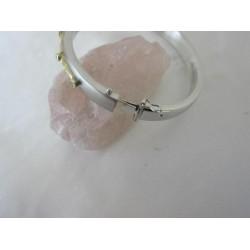 Armband ~ BIANCA Witgouden 14 karaats bicolor (wit- & geelgouden) Slavenarmband met Zirconia