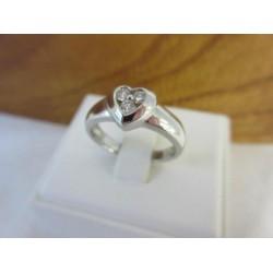Ring ~ VALENTINA Witgouden 14 karaats Hart ring met Diamanten
