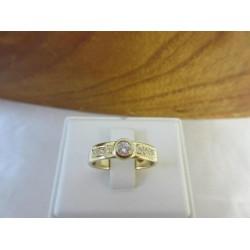 Ring ~ Gouden 14 karaats Ring met diamant (0.06 crt vs bij 0.13 crt vs)