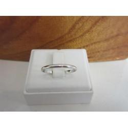 Ring ~ LISCIO Witgouden Halfronde Gladde Ring