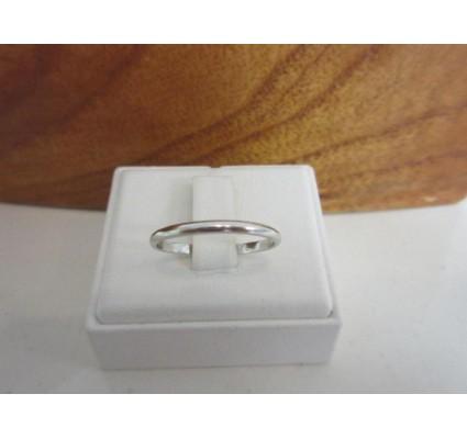 Ring ~ LISCIO Witgouden 14 karaats klassieke gladde Ring