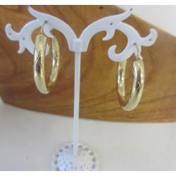 Oorbellen ~ Gouden 14 karaats Creool Oorbellen met Design
