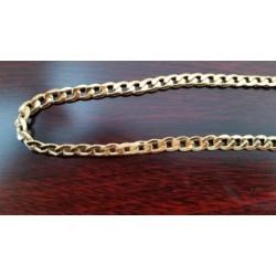 """Ketting ~ Gouden 18 karaats """"Gourmet"""" schakel ketting beschikbaar tot en met 45cm"""