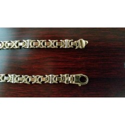 Armband ~ ARIAN Gouden Bicolor (wit- & Geelgouden) Platte Konings schakel Armband beschikbaar tot en met 23cm