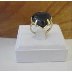 Ring ~ Gouden 14 karaats Ring met Onyx