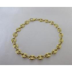 Armband ~ ANDREA Gouden 18 Karaats Koffieboon schakel Armband 19cm