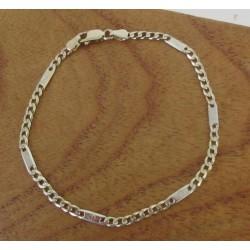 Armband ~ ANTONI Gouden 14 karaats Bicolor (wit- & Geelgoud) Gourmet Armband met Schroef Design beschikbaar tot en met 19cm