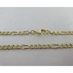 Ketting ~ Gouden 14 karaat Figaro Brede schakel Ketting beschikbaar tot en met 60 CM