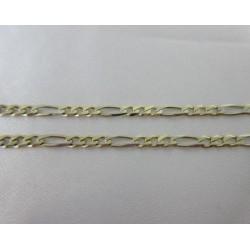 Ketting ~ Gouden 14 karaats bicolor (wit- en geelgouden) Figaro ketting beschikbaar tot en met 62 CM