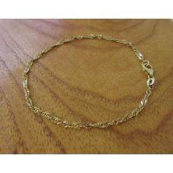 Armband ~ CARA Gouden gedraaide Armband beschikbaar tot en met 18.5cm