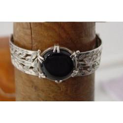 Armband ~ BIANCA Handgemaakte Zilveren Armband met Onyx