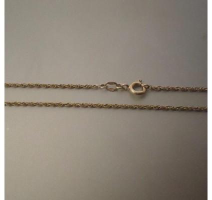Ketting ~ Gouden gedraaide 14 karaats ketting beschikbaar tot en met 43cm