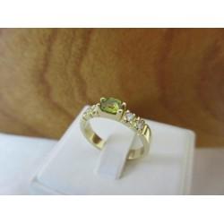 Ring ~ SPERANZA Gouden handgemaakte Ring met Groene saffier en Diamant