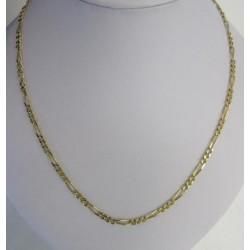 Ketting ~ Gouden 18 Karaats Figaro Schakel ketting beschikbaar tot en met 64cm