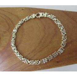 "Armband ~ ONYX Gouden 14 karaats bicolor Wit- & Geelgoud ""Onyx"" Armband Lengte is 23cm"