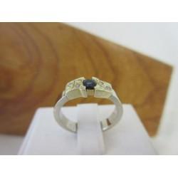 Ring ~ Gouden Handgemaakte ring met Saffier & Diamant !gratis op maat gemaakt!