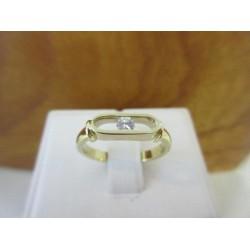 Ring ~ Gouden Handgemaakte Ring met Diamant
