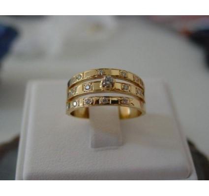 Ring ~ GORGIA Gouden Ring met Diamant