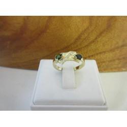 Ring ~ Gouden 14 karaats Ring met Toermalijn en Diamant