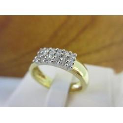 Ring ~ Gouden Bicolor Handgemaakte Ring met Diamant