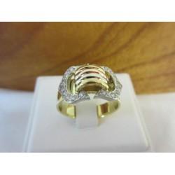 Ring ~ Gouden 3 kleurig ring met diamant
