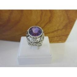 Ring ~ Zilveren Ring met Amethist