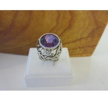 Ring ~ ZOE Zilveren Ring met Amethist